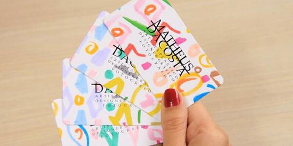 tarjetas de visita modernas creativas a color