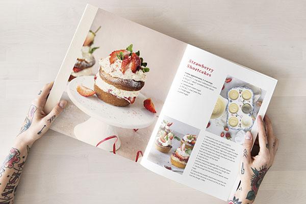Libro de cocina, recetario impreso