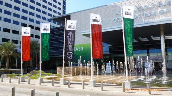 Banderas publicidad con mastil