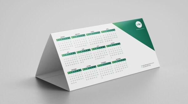 Calendario para mesa triangulo