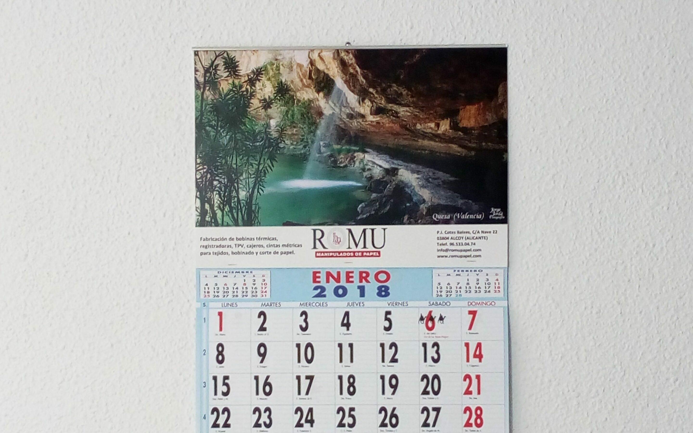 Imprimir calendarios con faldilla