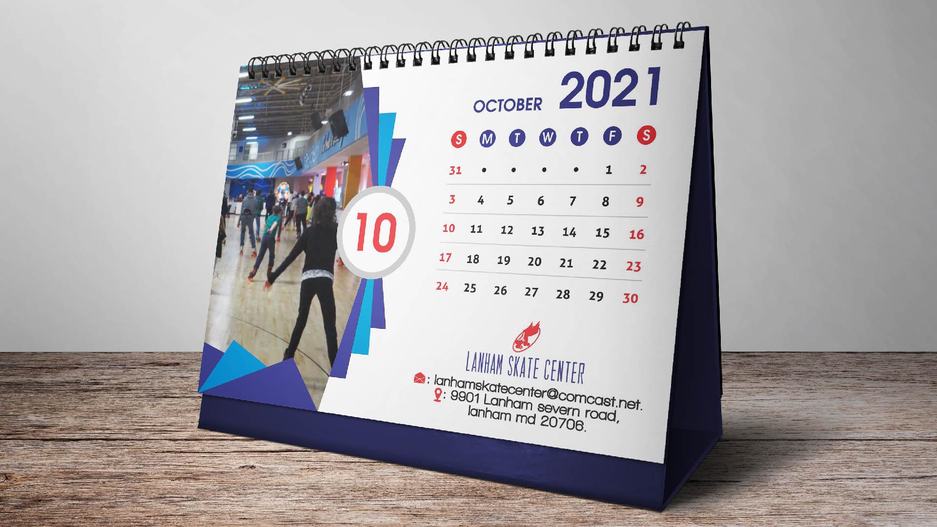 Calendarios de mesa con espiral