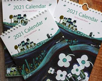 Imprimir calendarios de pared con espiral.
