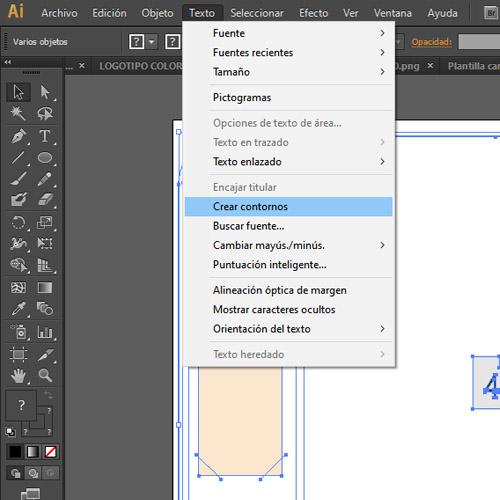 Crear contornos illustrator