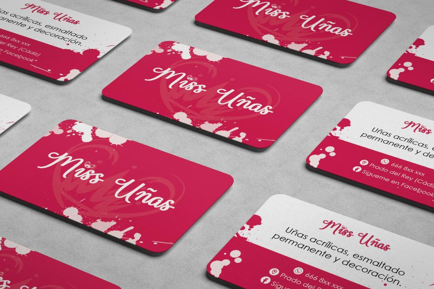 Diseño tarjetas de visita para uñas