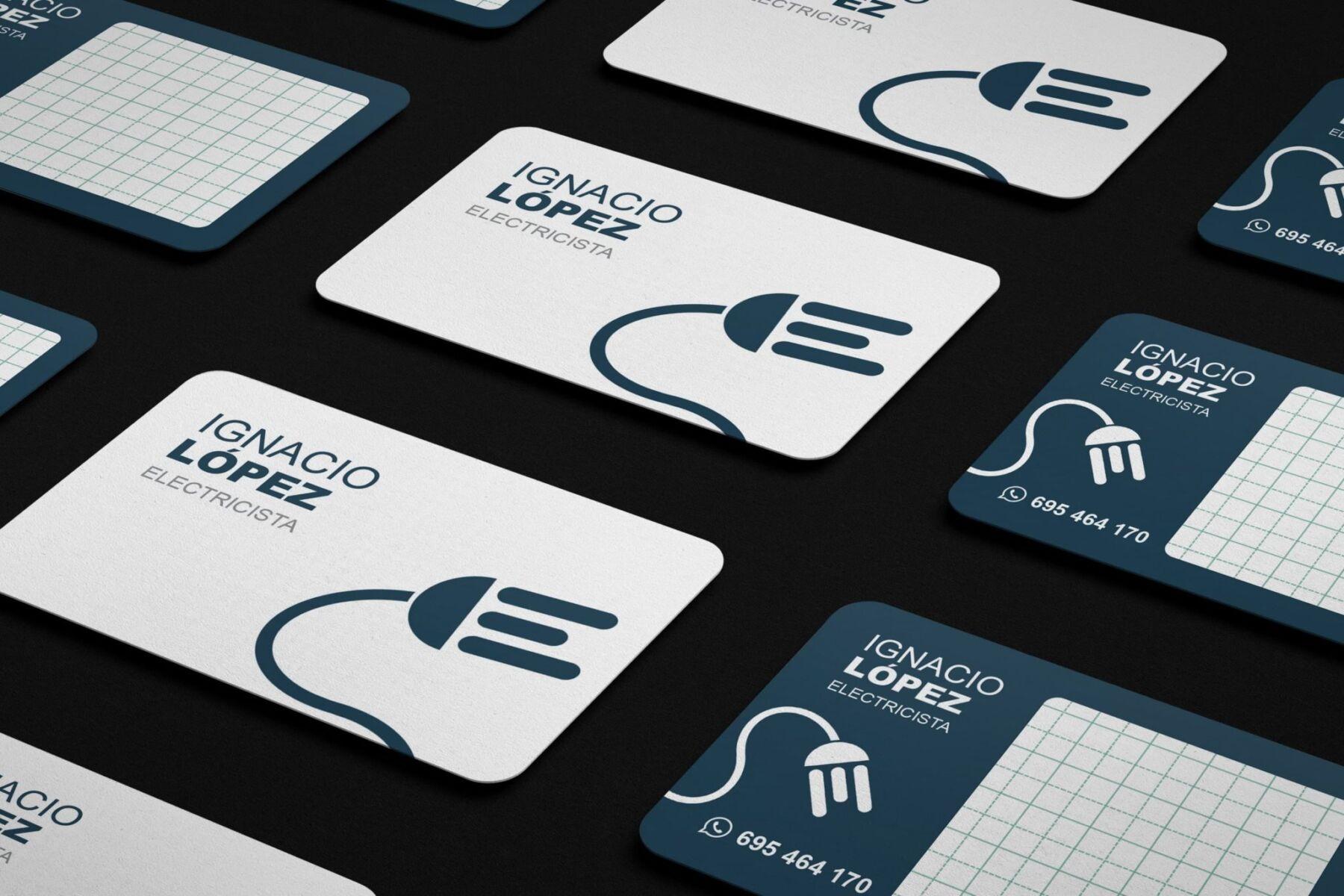 Diseño tarjetas de visita electricista