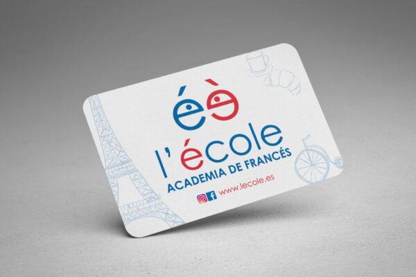 Tarjetas para la academia de francés l'école