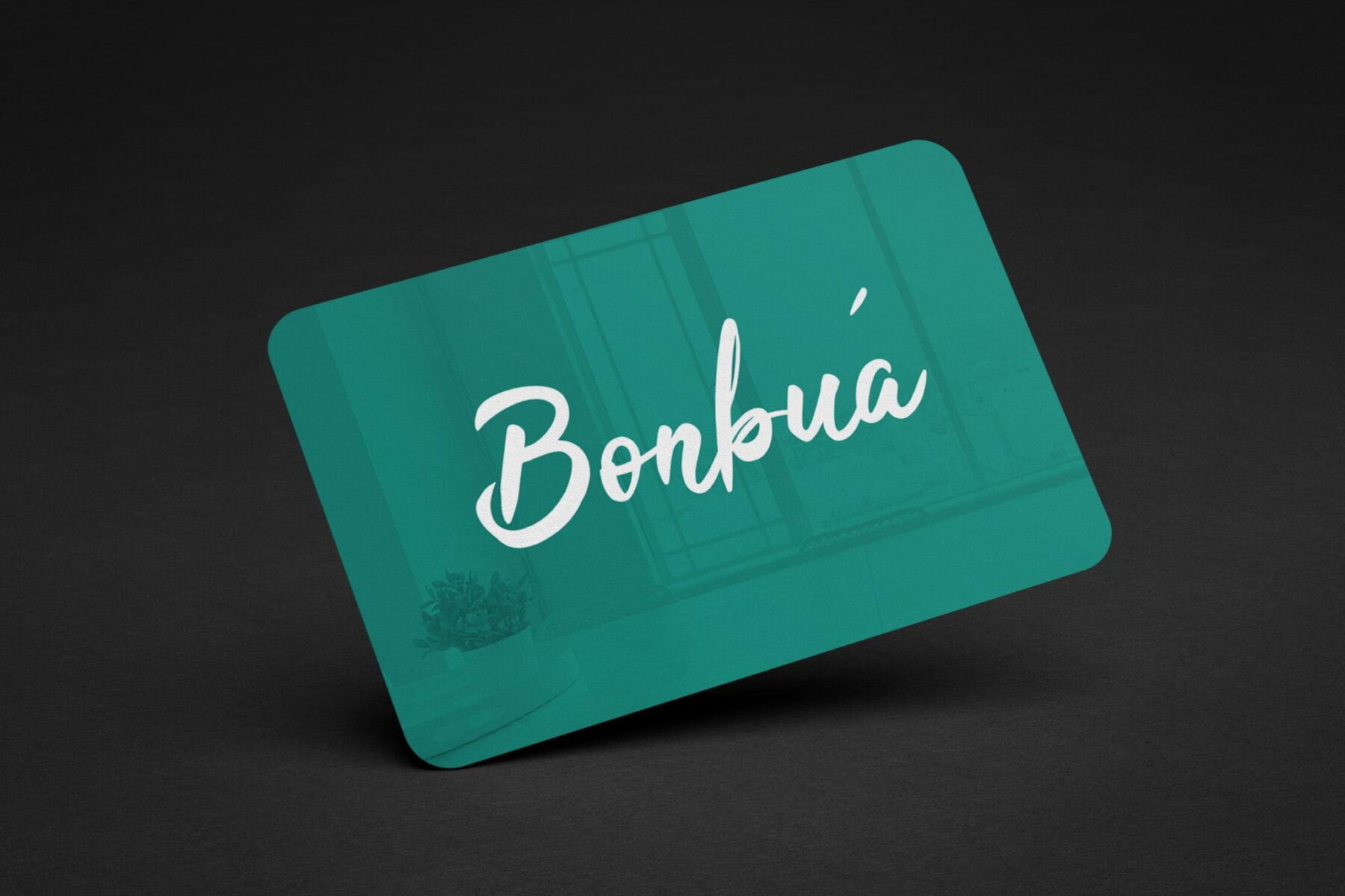 Diseño tarjetas de visita Bonbua