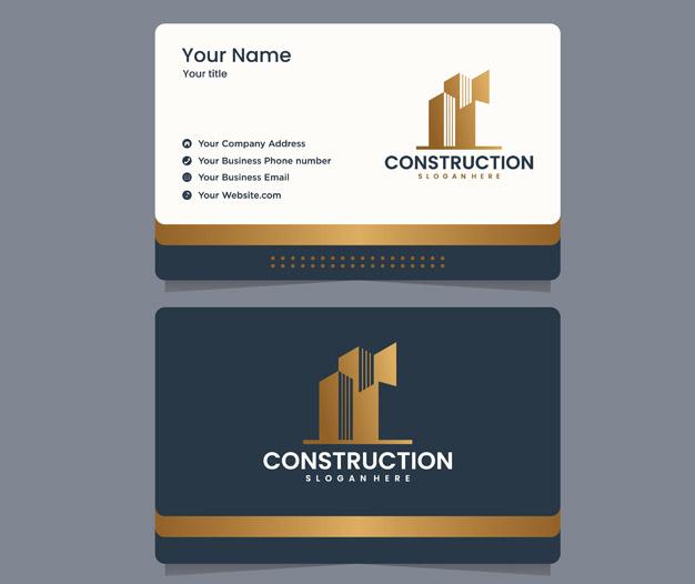 Diseño Tarjetas de visita constructora