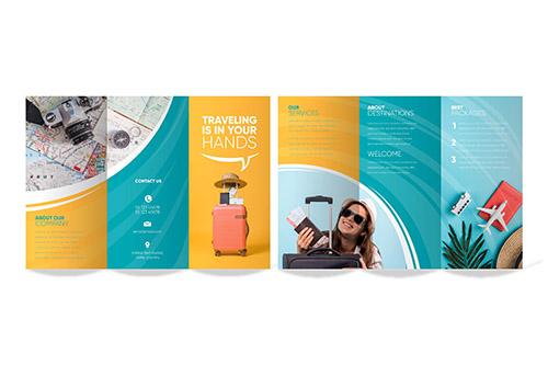 Diseño folletos agencia de viajes