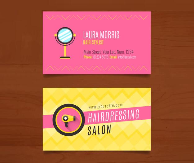 Diseño para Tarjetas de presentacion peluquerias 7