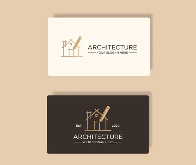 Diseño para tarjetas de arquitectura plantilla
