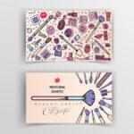 Diseño para tarjetas de maquillaje