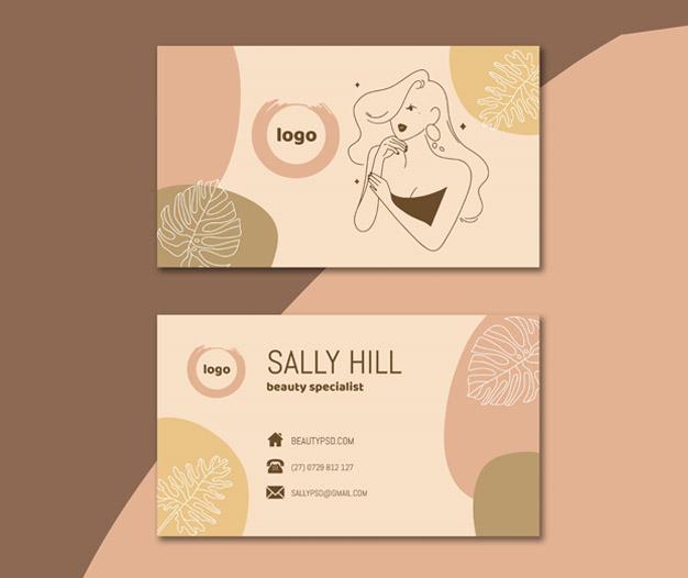 Diseño para tarjetas de presentacion salon de belleza 5