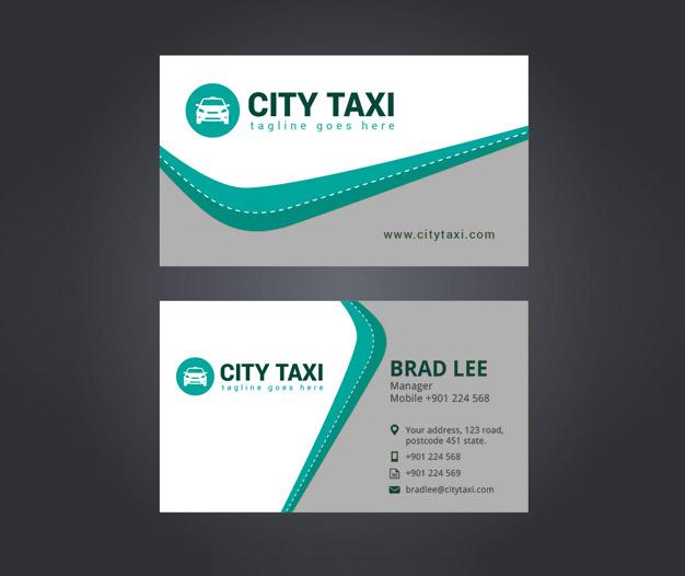 Diseño para tarjetas de servicios taxi