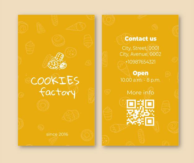 Diseño para tarjetas de visita pastelerias