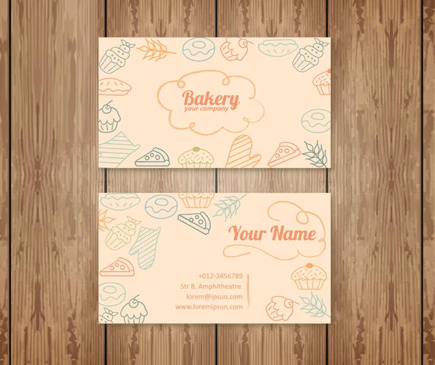 Diseño para tarjetas de visita reposteria