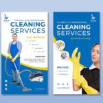 Diseño para tarjetas de visita servicio de limpieza 3