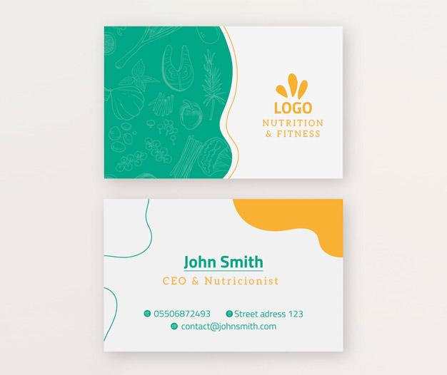 Diseño para tarjetas dietetica