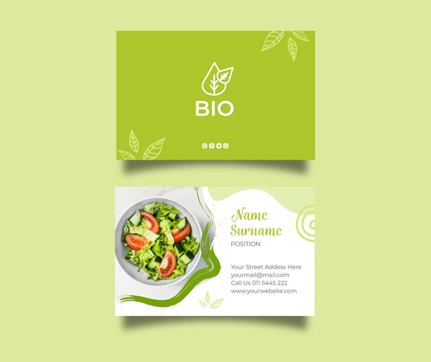 Diseño para tarjetas nutriciologo