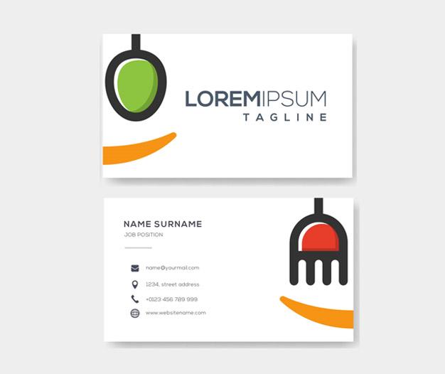 Diseño para tarjetas para restaurante