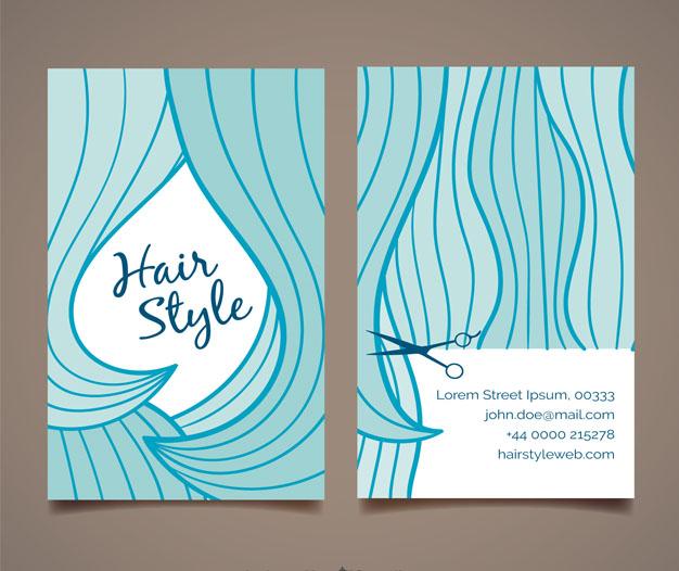 Diseño para tarjetas peluqueria 4