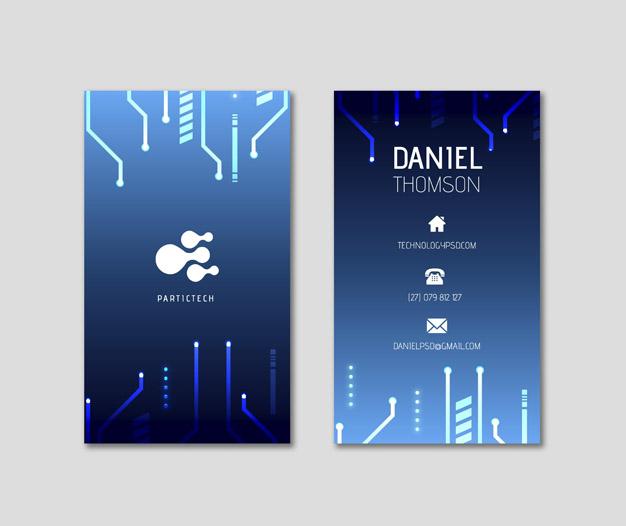Diseño plantilla de tarjetas informatica
