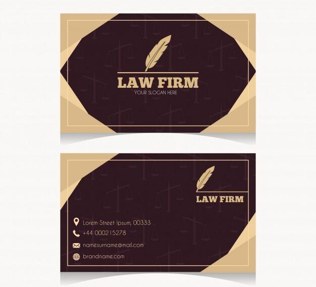 Diseño plantilla tarjetas abogados 4