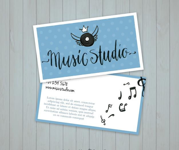 Diseño plantilla tarjetas musicos