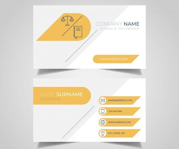 Diseño tarjetas de abogados 7