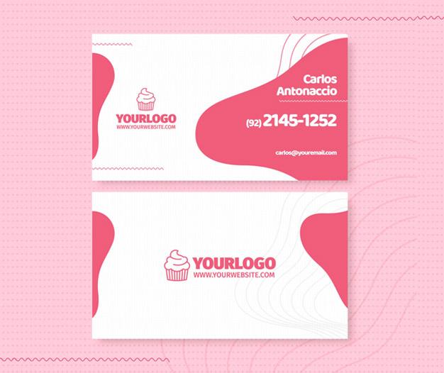 Diseño tarjetas de negocios pastelerias