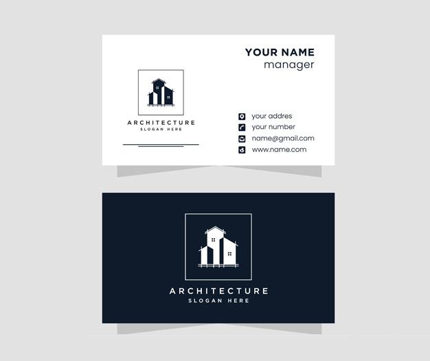 Diseño tarjetas de presentacion arquitectura
