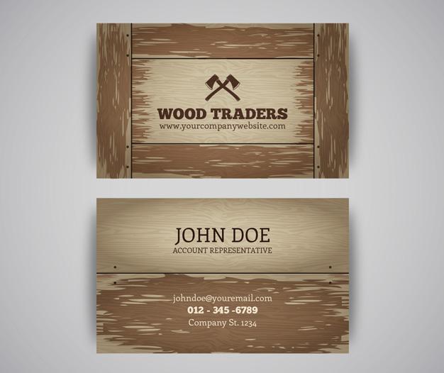 Diseño tarjetas de presentacion carpinteria