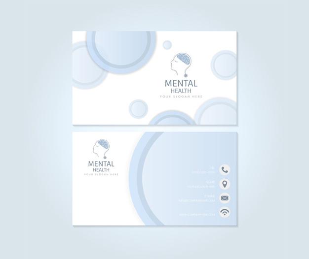 Diseño tarjetas de presentacion psicologia salud mental