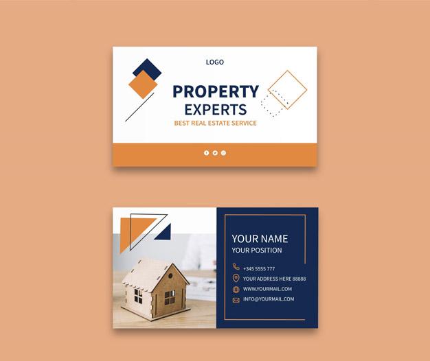 Diseño tarjetas de visita inmobiliaria
