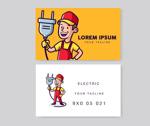 Diseño tarjetas de visita para electricista 3