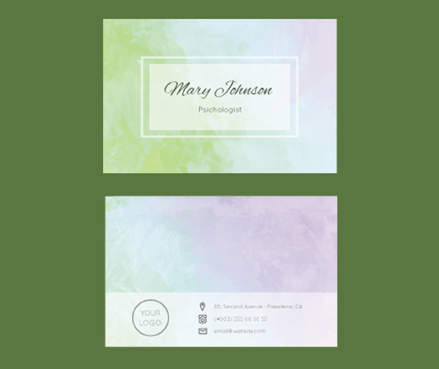 Diseño tarjetas de visita psicologia 1
