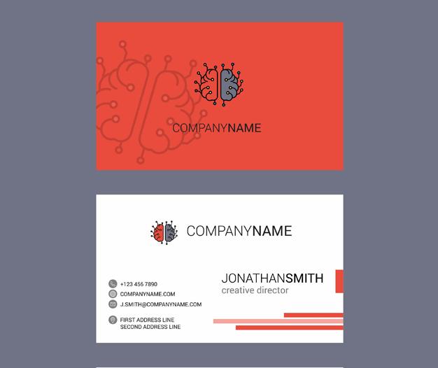 Diseño tarjetas de visita psicologos 2