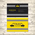 Diseño tarjetas de visita taxi