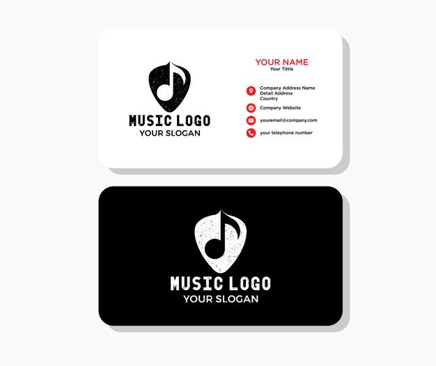 Diseño tarjetas para musicos