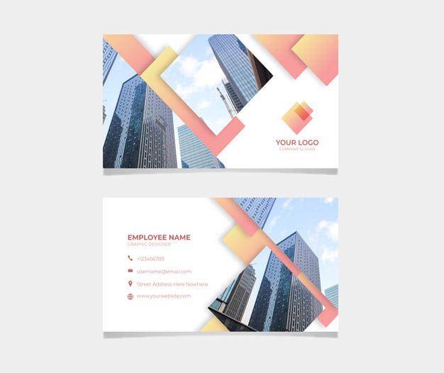 Diseño tarjetas para profesionales de la construccion