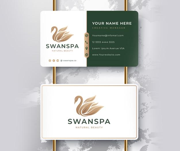 Diseño tarjetas para salon de spa