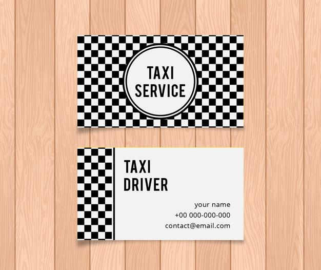 Diseño tarjetas para taxi