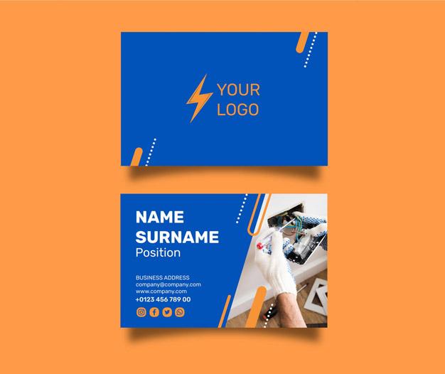 Diseño tarjetas presentacion electricidas 9
