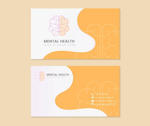 Diseño tarjetas presentacion psicologos salud mental
