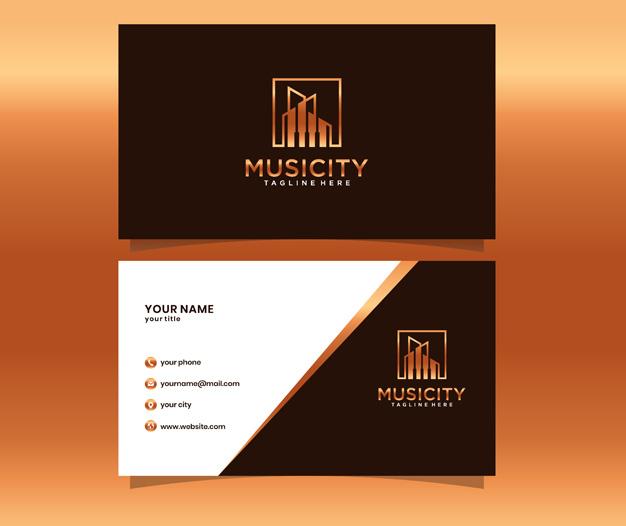 Diseño tarjetas visita musicos