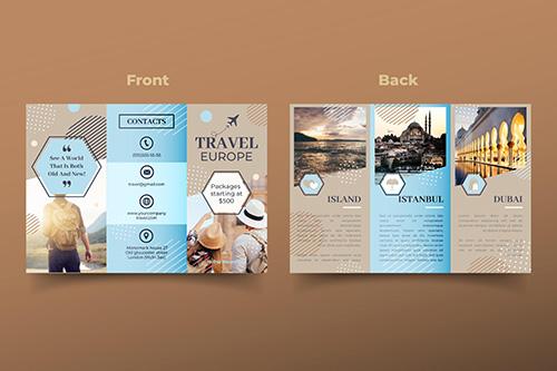 Diseño tríptico viajes