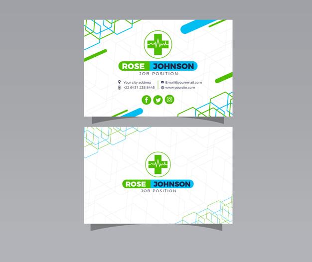Diseños de tarjetas de visita medicina