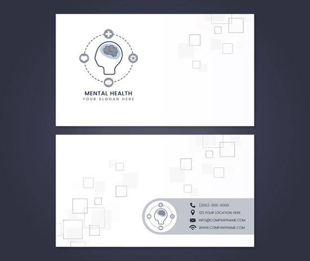 Diseños tarjetas de presentacion psicologos