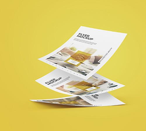 Flyers cuadrados impresos